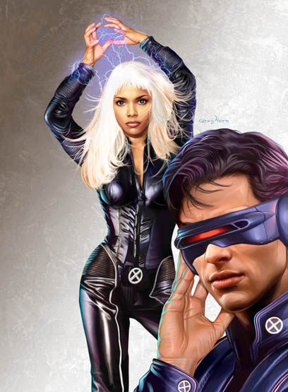 X2 xmen Halle Berry as Storm and James Marsden as Cyclops