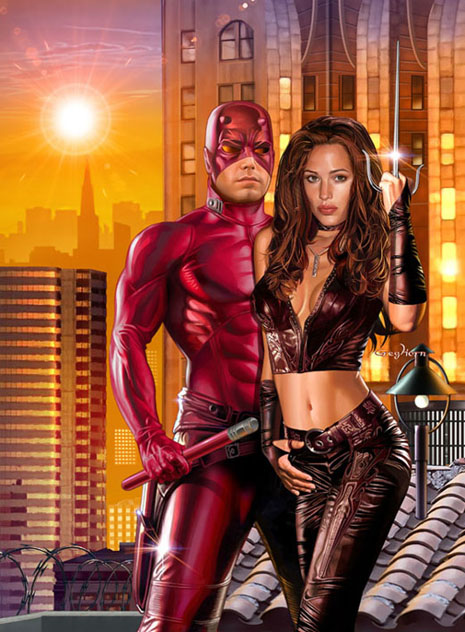 Ben Affleck and Jennifer Garner as Daredevil and Elektra